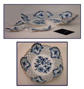 Meissen Lattice Bowl repaired