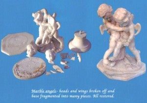 Marble Angels: all pieces restored